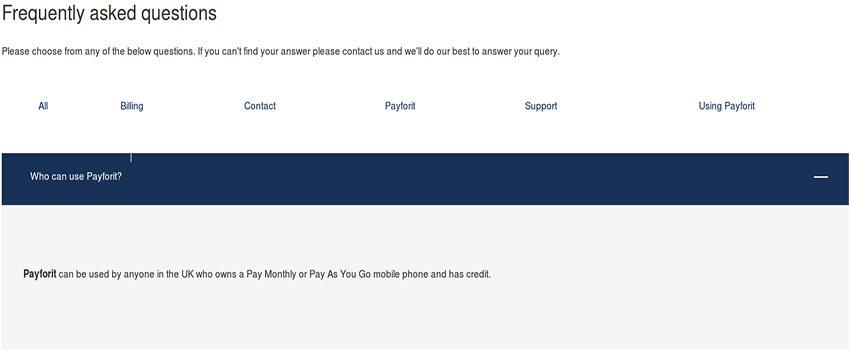 Payforit Availability