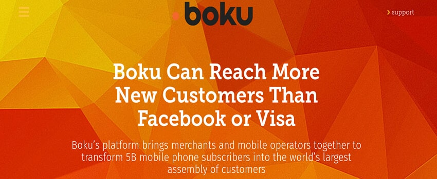 Boku Mobile deposit options