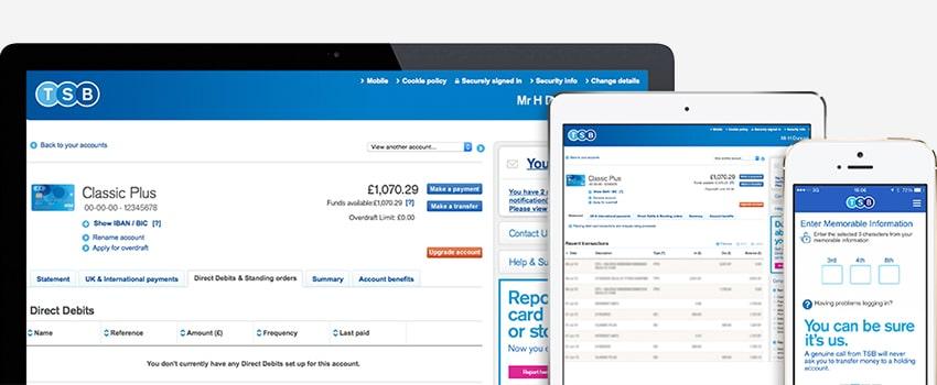 Online Banking Responsive Screenshots