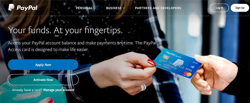 PayPal Cards