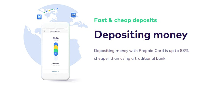 Depositing Funds with Prepaid Cards