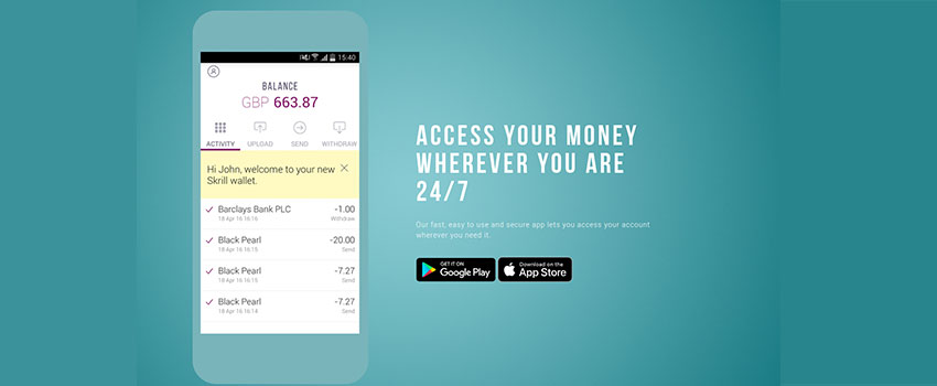 Moneybookers (Skrill) on Mobile